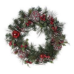 Festive - Red berries wreath