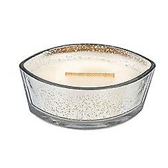 WoodWick - Silver mercury ellipse design scented candle