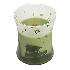 WoodWick - Medium evergreen Christmas scented jar candle