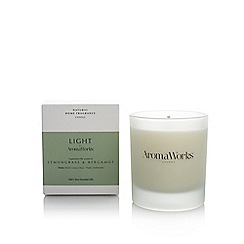 Aromaworks - Lemongrass and bergamot candle