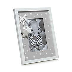 Sass & Belle - White star print photo frame