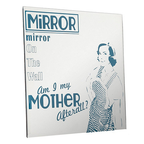 Debenhams - Silver +Good Wife+ mirror