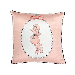Janet Reger Home - Light pink poodle cushion