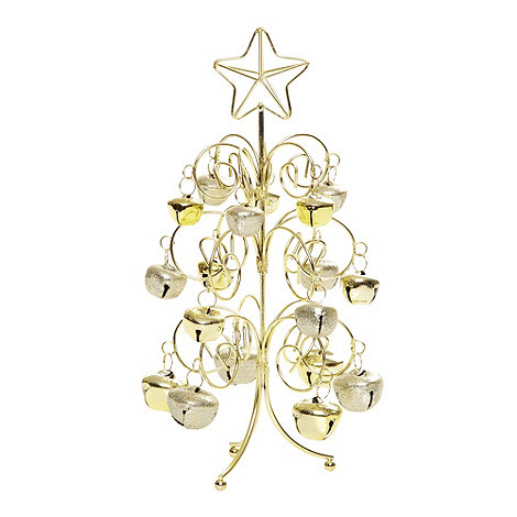 Debenhams - Gold bell Christmas tree ornament