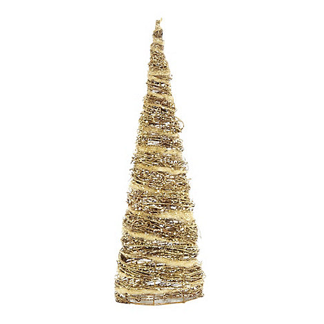 Debenhams - Gold glittery Christmas tree decoration