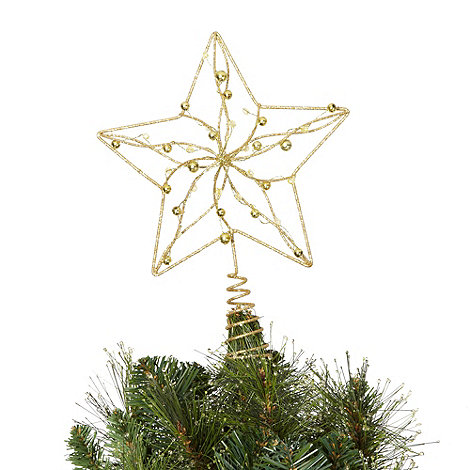 Debenhams - Gold star Christmas tree topper