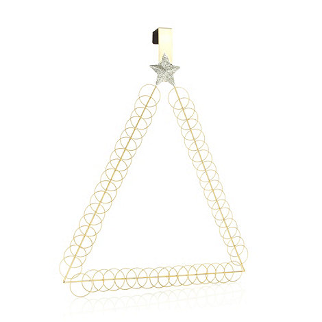 Debenhams - Gold hoop Christmas tree card holder