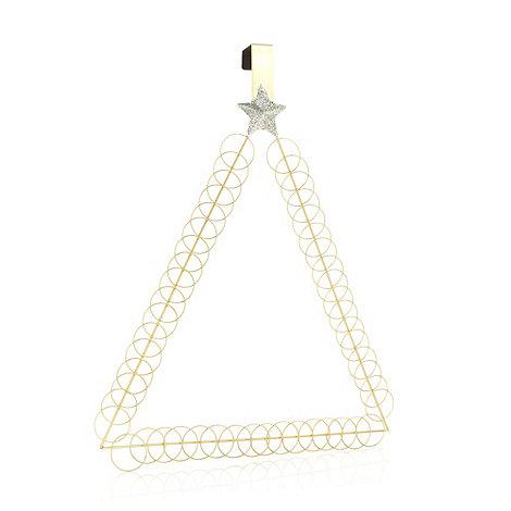 Debenhams - Gold hoop Christmas tree card holder