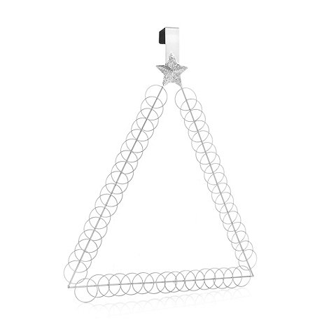 Debenhams - Silver hoop Christmas tree card holder