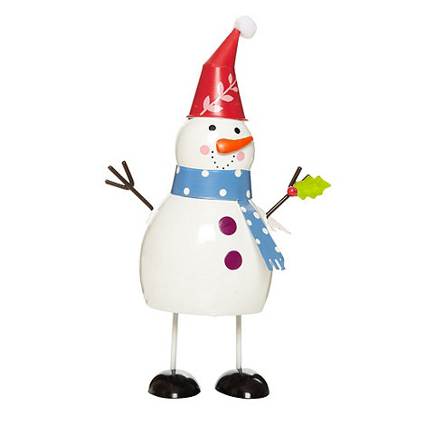 Debenhams - Small bouncing Christmas snowman character
