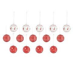 Debenhams - Set of 14 Christmas baubles