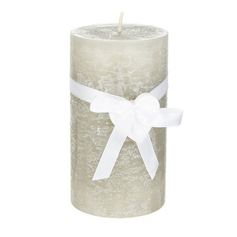 Debenhams - Grey medium pillar candle