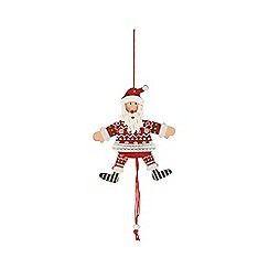 Sass & Belle - String pull santa decoration