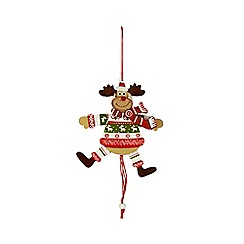 Sass & Belle - String pull reindeer Christmas decoration