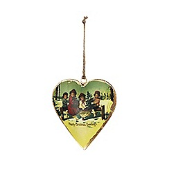 Sass & Belle - Vintage scene heart Christmas decoration