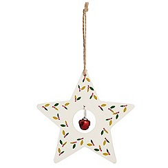 Debenhams - Wooden star and tree Christmas decoration set