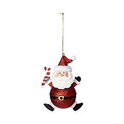 Debenhams - Red 'Santa' Christmas decoration