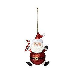 Debenhams - Red 'Santa' Christmas decoration