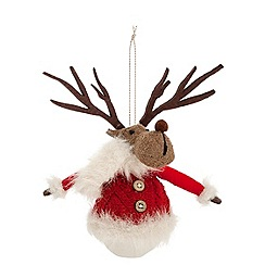 Debenhams - Red reindeer Christmas decoration