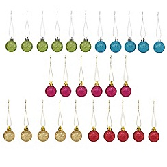 Debenhams - Set of 27 Christmas baubles