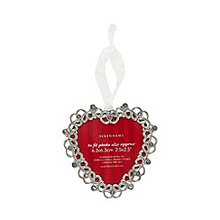 Debenhams - Metal heart photo frame Christmas decoration