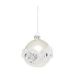 Debenhams - Silver Christmas tree bauble