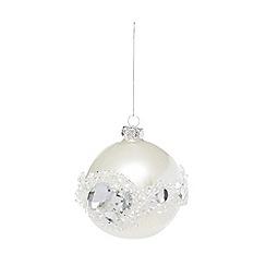 Debenhams - Silver Christmas tree bauble