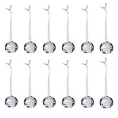 Debenhams - Set of 12 large bell Christmas decorations