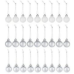 Debenhams - Set of 27 silver assorted Christmas baubles