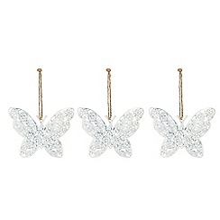 Debenhams - White butterfly Christmas decoration