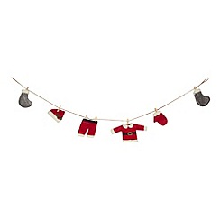 Debenhams - Santa's laundry garland Christmas decoration