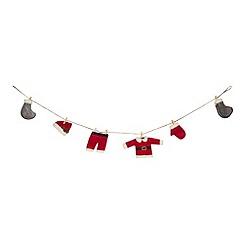 Debenhams - Santa's laundry garland Christmas decoration