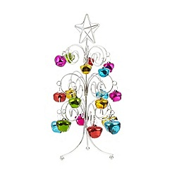 Debenhams - Multi-coloured bell Christmas tree ornament