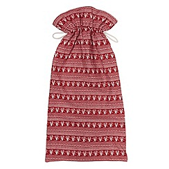 Debenhams - Red Nordic print Christmas sack