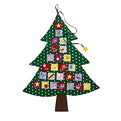 Debenhams - Green Christmas tree advent calendar