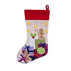 At home with Ashley Thomas - White festive Christmas stocking