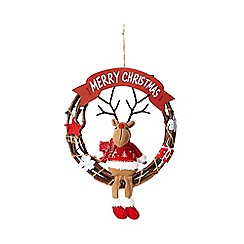 Debenhams - Christmas reindeer wreath