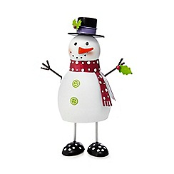 Debenhams - Small white Christmas snowman bouncer