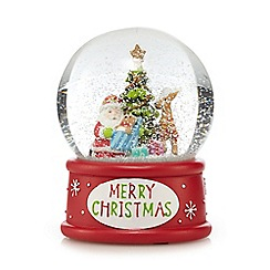 Debenhams - Red Santa Christmas snow globe