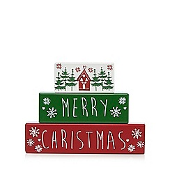 Debenhams - Wooden 'Merry Christmas' blocks