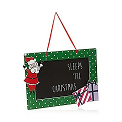 At home with Ashley Thomas - Chalkboard Christmas decoration