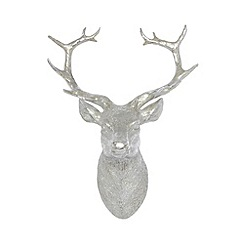 Debenhams - Silver stag head wall decoration