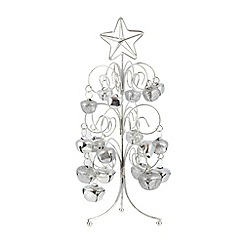 Debenhams - Silver bell Christmas tree ornament