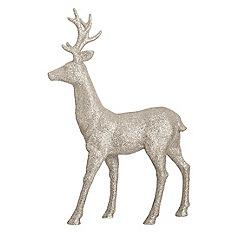 Debenhams - Silver glitter Christmas reindeer