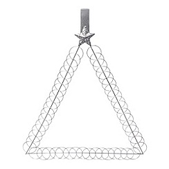 Debenhams - Silver triangular Christmas card holder