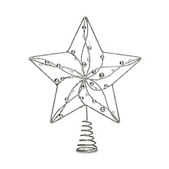Debenhams - Silver star Christmas tree topper