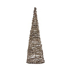 Debenhams - Gold coned twig Christmas tree