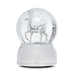 Debenhams - Silver Christmas reindeer snow globe