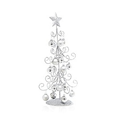 Debenhams - Tall glitter Christmas tree decoration