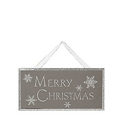 Debenhams - Silver Merry Christmas sign